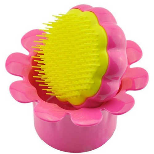 Tangle Teezer Dětský profesionální kartáč na vlasy Tangle Teezer (Magic Flowerpot) Flower Pot růžovo-žlutý