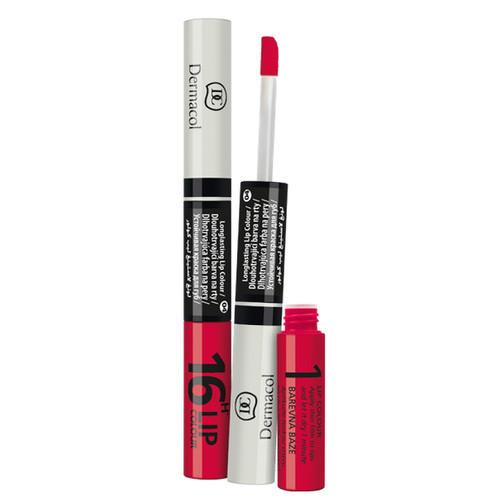 Fotografie Dermacol Dlouhotrvající barva na rty a lesk 2v1 16h Lip Colour č.5 Starorůžová s leskem