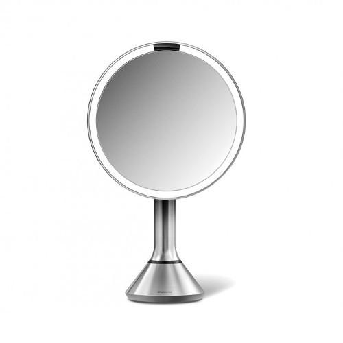 Simplehuman Dobíjecí kosmetické zrcátko Sensor s LED osvětlením, 5x zvětšení Nerez ocel