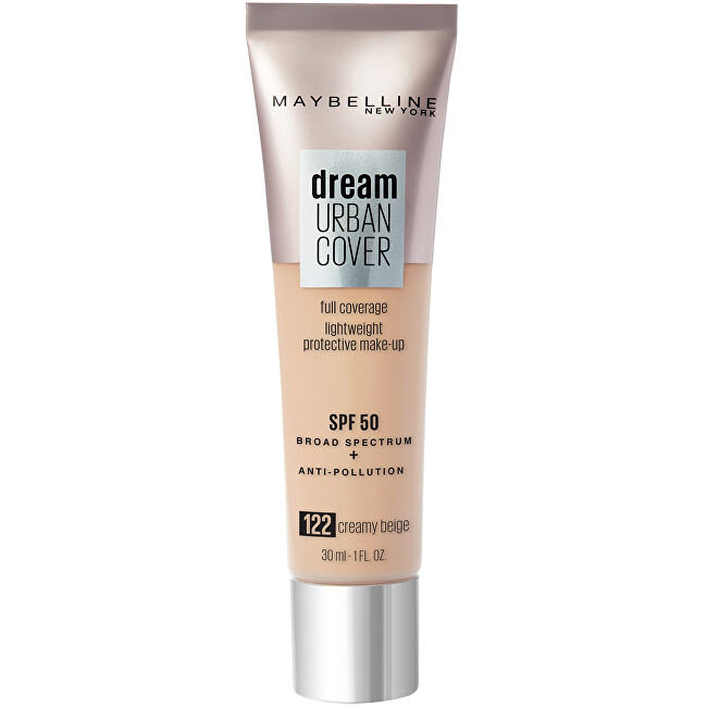 Maybelline Ľahký make-up Dream Urban Cover SPF 50 (Full Coverage Light weight Protective Make-Up ) 30 ml 095 Fair Porcelain