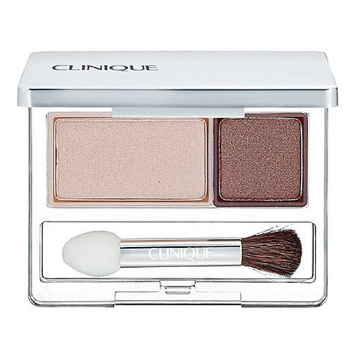 Clinique Duo očné tiene (All About Shadow Duo) 2,2 g 10 Mixed Greens