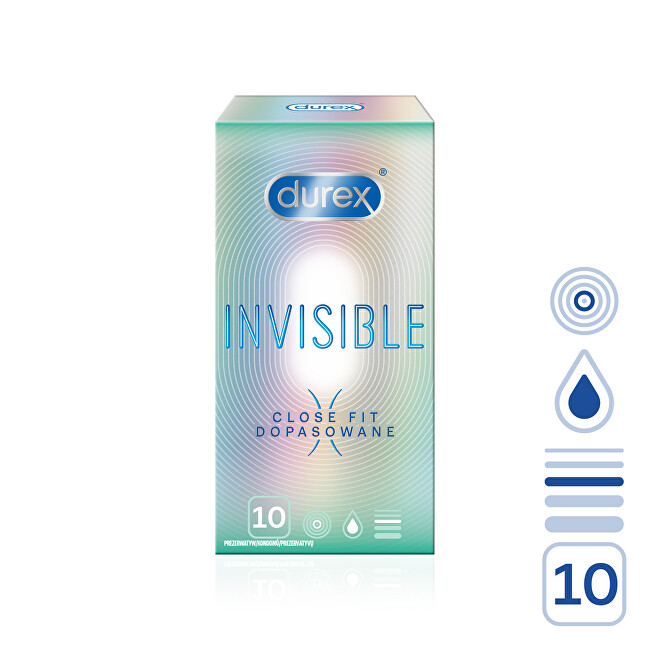 Durex Kondomy Invisible Close Fit 10 ks