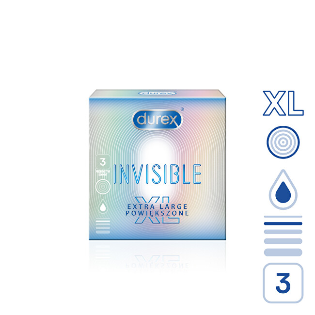 Durex Kondomy Invisible XL 3 ks