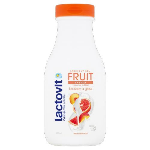 Lactovit Energetický sprchový gel Broskev a grep (Fruit Shower Gel) 300 ml