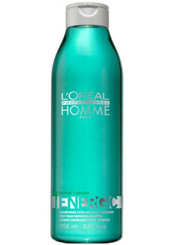 Loreal Professionnel Șampon energizant pentru bărbațiEnergic (High Foam Energising Shampoo) 250 ml
