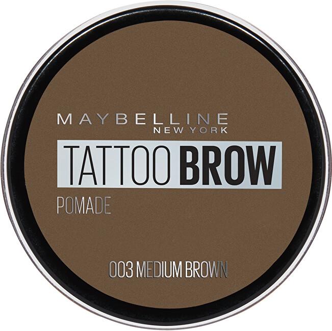 Maybelline Gelová pomáda na obočí Tattoo Brow (Pomade) 4 g 003 Medium Brown