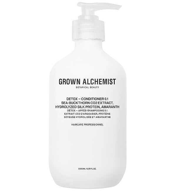 Grown Alchemist Detoxikační kondicionér Sea-Buckthorn CO2 Extract, Hydrolyzed Silk Protein, Amaranth (Detox Conditioner) 500 ml