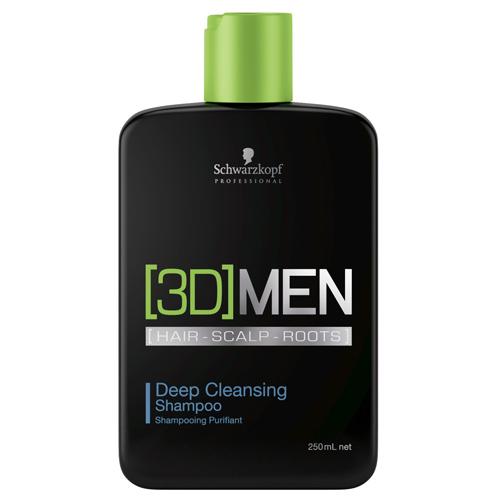 Schwarzkopf Professional Șampon decurațare profundă pentru bărbați 3D (Deep Cleansing Shampoo) 1000 ml