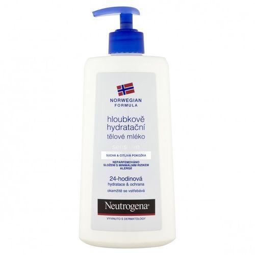 Neutrogena Hloubkově hydratační tělové mléko pro citlivou pokožku 24 H 250 ml