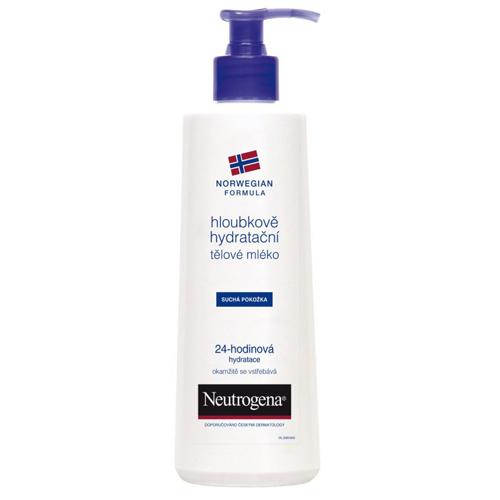 Neutrogena Hloubkově hydratační tělové mléko pro suchou pokožku 24 H 400 ml