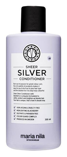 Maria Nila Hydratační kondicionér neutralizující žluté tóny vlasů Sheer Silver (Conditioner) 100 ml