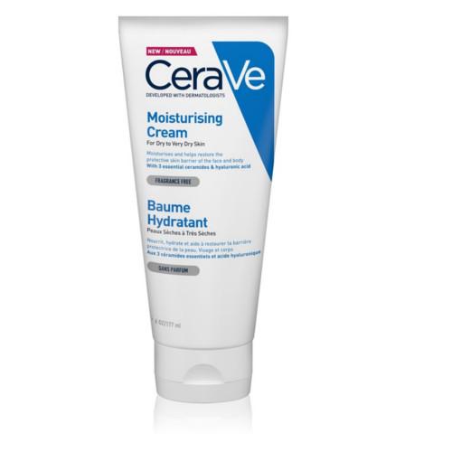 CeraVe Hydratačný krém pre suchú až veľmi suchú pokožku (Moisturising Cream) 177 ml