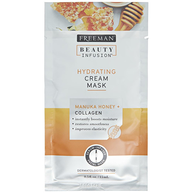 Freeman Hydratační krémová maska Manukový med a kolagen Beauty Infusion (Hydrating Cream Mask) 15 ml