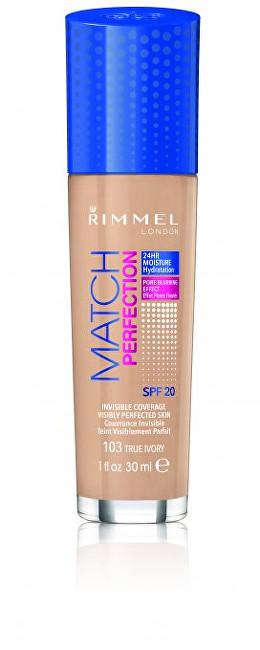 Rimmel Hydratačný Make-up Match & Perfect foundation 100 Ivory