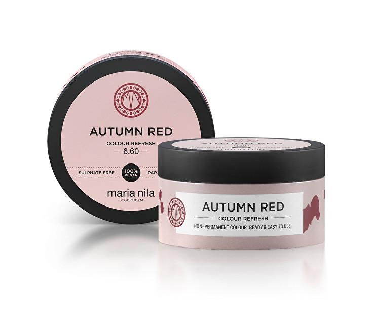 Maria Nila Jemná vyživující maska bez permanentních barevných pigmentů Autumn Red (Colour Refresh Mask) 100 ml