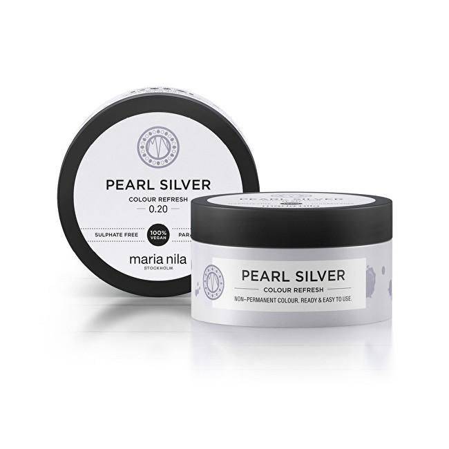 Maria Nila Jemná vyživujúce maska bez permanentných farebných pigmentov Pearl Silver ( Colour Refresh Mask) 100 ml