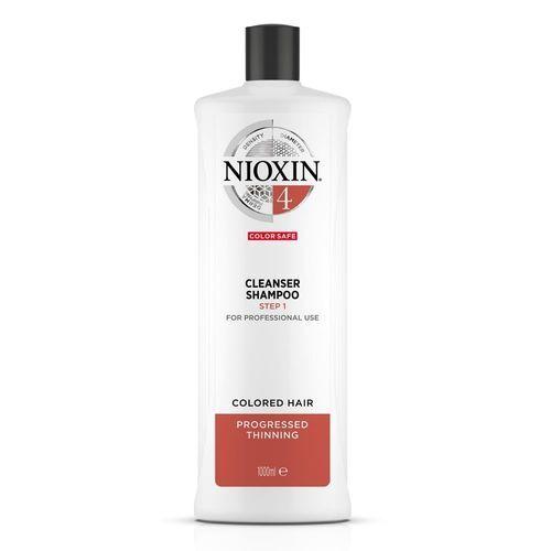 Nioxin Čisticí šampon pro jemné barvené výrazně řídnoucí vlasy System 4 (Shampoo Cleanser System 4) 300 ml