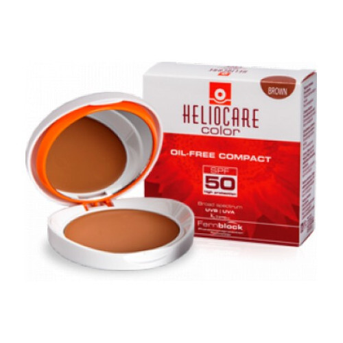Heliocare Kompaktný make-up SPF 50 Color (Oil-Free Compact) 10 g Brown