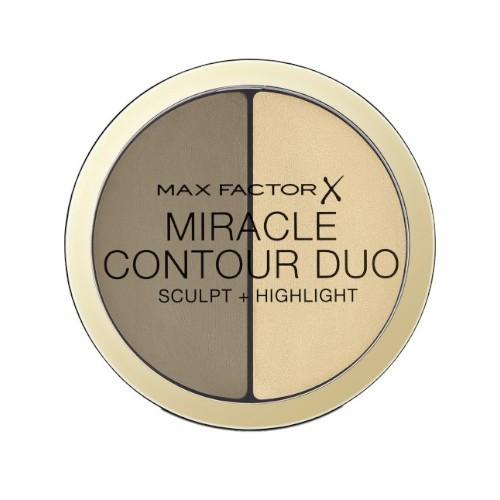 Max Factor Krémový bronzer a rozjasňovač Miracle Contour Duo (Sculpt + Highlight) 8 g Light/Medium