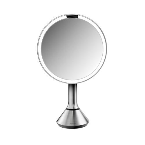 Simplehuman Kosmetické zrcátko Sensor Touch s ovládáním intenzity LED osvětlení, 5x zvětšení Matná nerez
