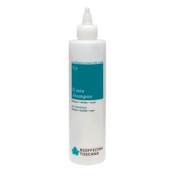 Biofficina Toscana Můj šampon lahvička pro přípravu vlastního šamponu 250 ml