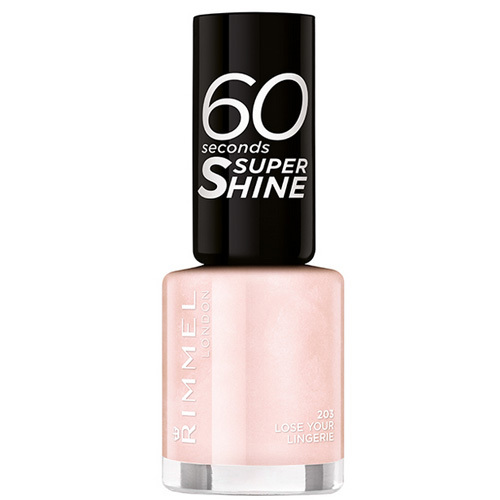 Fotografie Rimmel Lak na nehty 60 Seconds Super Shine 8 ml 513 Let´s Get Nude