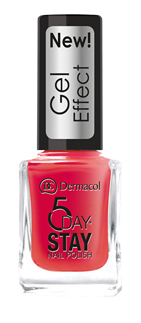 Dermacol Lak na nehty s gelovým efektem 5 Day Stay (Nail Polish Gel Effect) 12 ml 26 Satiné