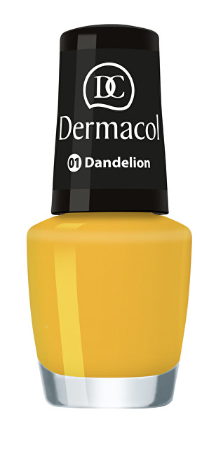 Dermacol Letní mini lak na nehty (Nail Polish Mini Summer Collection) 5 ml č.1 Dandelion