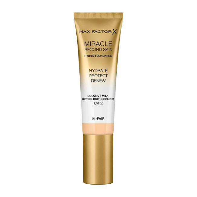 Max Factor Hybridní makeup Miracle Touch Second Skin SPF 20 Hybrid Foundation 30 ml 06 Golden Medium