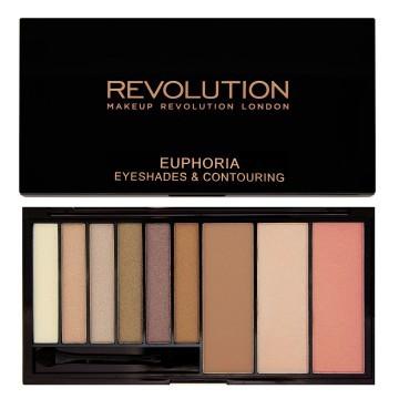 Makeup Revolution paletka očních stínů a konturovací sada v jednom Bronzed Euphoria