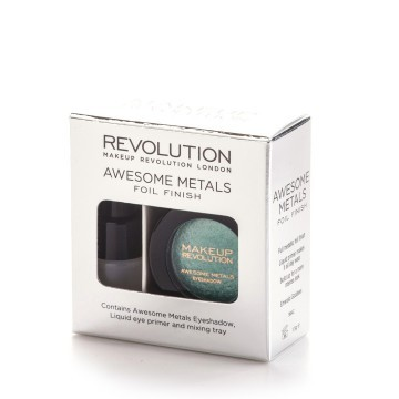 Revolution Sada na tvorbu metalických tieňov Awesome Metal (Foil Finish) 1,5 g Black Diamond