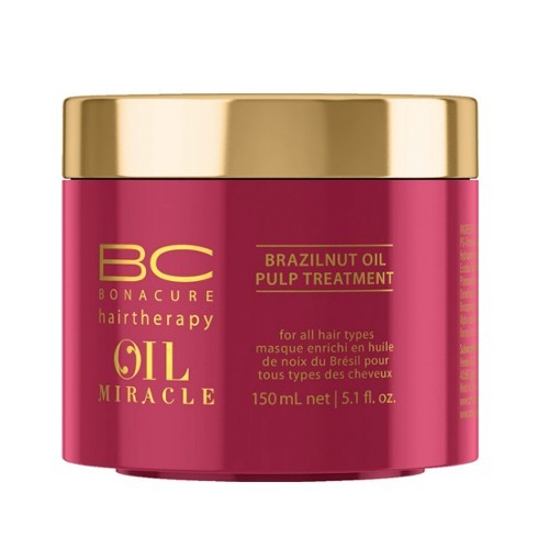 Schwarzkopf Professional Maska pre výživu a hydratáciu vlasov BC Bonacure Oil Miracle (Brazilnut Oil Pulp Treatment For All Hair Types) 150 ml