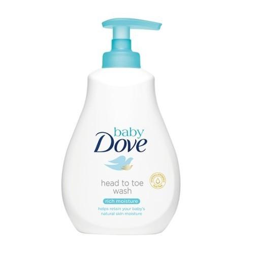 Dove Mycí gel pro děti na tělo i vlásky Baby (Head To Toe Wash Rich Moisture) 200 ml