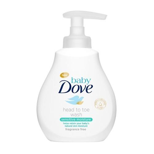 Dove Mycí gel pro děti na tělo i vlásky baby (Head To Toe Wash Sensitive Moisture) 200 ml