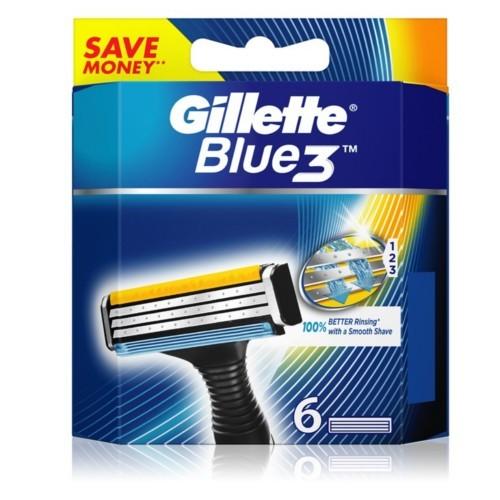Gillette Náhradní hlavice Blue 3 6 ks
