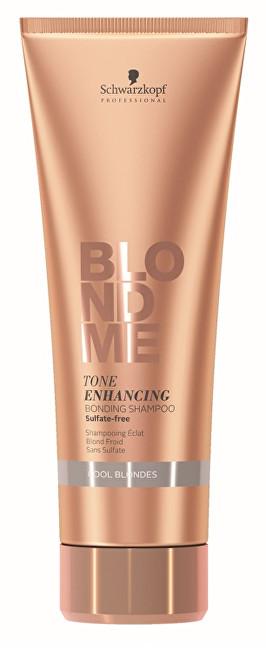 Schwarzkopf Professional Obnovující šampon pro zvýraznění chladných blonďatých odstínů BLONDME (Tone Enhancing Bonding Shampoo Cool Blondes) 250 ml