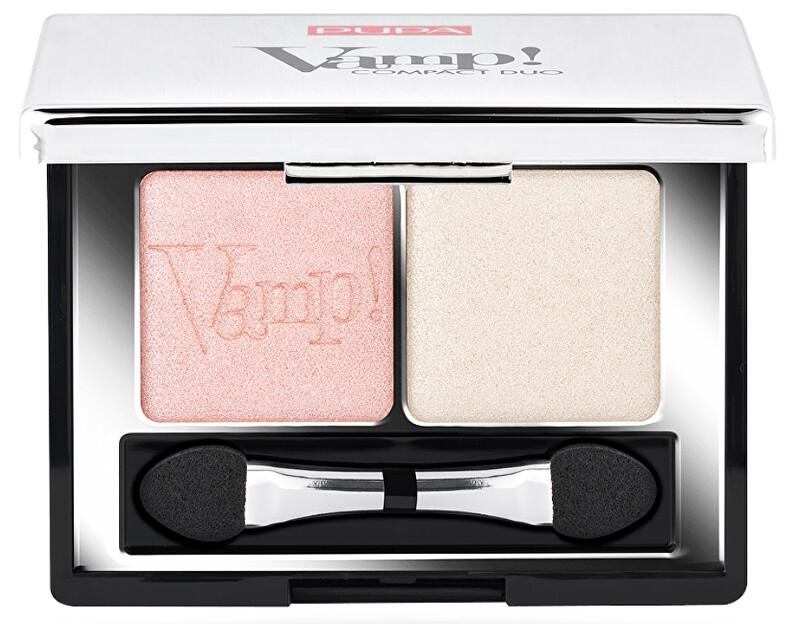 Pupa Oční stíny Vamp! (Compact Duo Eyeshadow) 2,2 g - SLEVA - poškozená krabička Odstín 012 Magnetic Blue