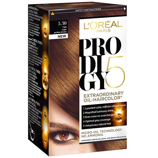 Loreal Paris Olejová barva na vlasy Prodigy 5 8.34 světlá blond medová