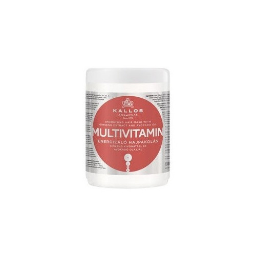 Kallos Oživující maska na vlasy s multivitamíny (Multivitamin With Ginseng Extract and Avocado Hair Mask) 275 ml