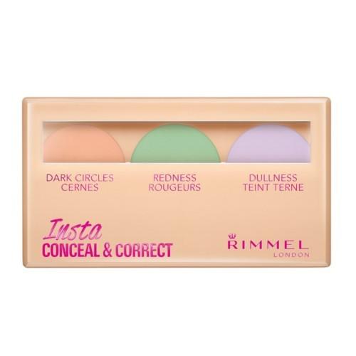 Rimmel Paletka korektorov na pleť (Insta Conceal & Correct Palette) 9 g 001