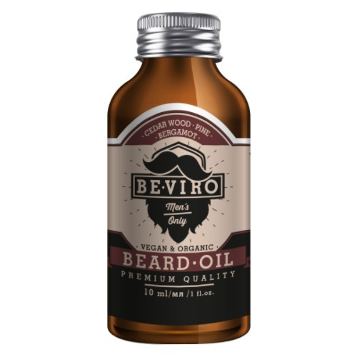 BE-VIRO Pečující olej na vousy s vůní cedru, bergamotu a borovice (Beard Oil) 10 ml