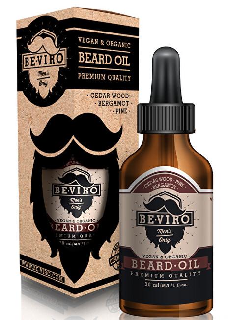 Beviro Pečující olej na vousy s vůní cedru, bergamotu a borovice (Beard Oil) 10 ml