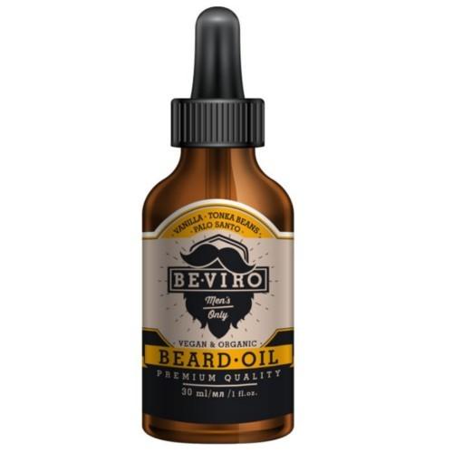 BE-VIRO Pečující olej na vousy s vůní vanilky, palo santo a tonkových bobů (Beard Oil) 30 ml