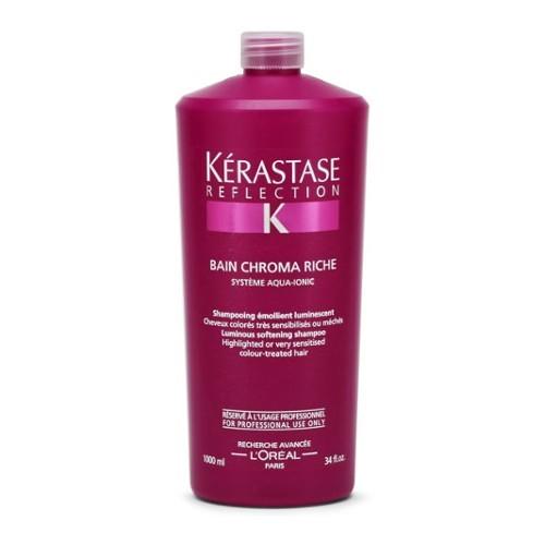Kérastase Ochranný šampón pre citlivé farbené a zosvetľovanie vlasov Reflection (Bain Chromatique Riche Multi-Protecting Shampoo) 1000 ml