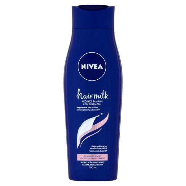 Nivea Pečující šampon pro jemné vlasy Hairmilk (Care Shampoo) 250 ml