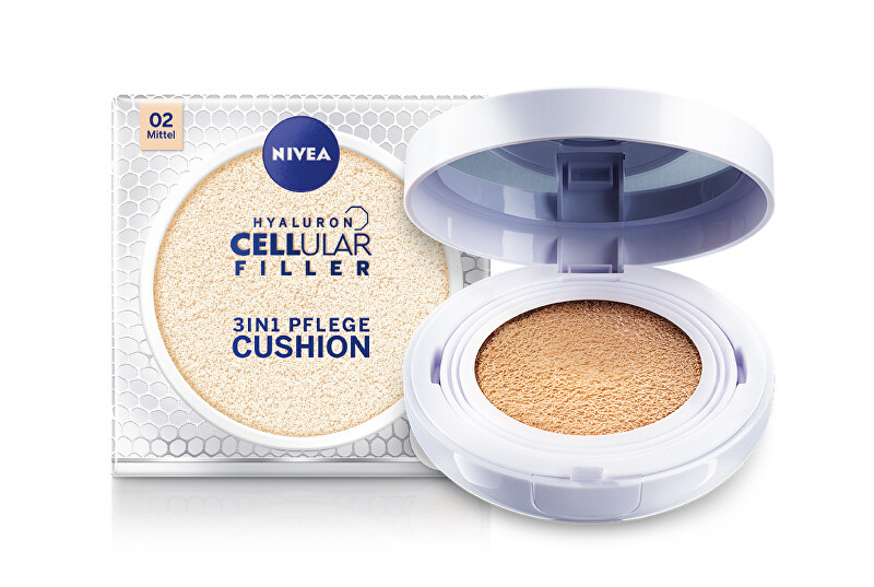 Nivea Ošetrujúce make-up v hubke 3 v 1 Cellular Filler 15 g 01 Light