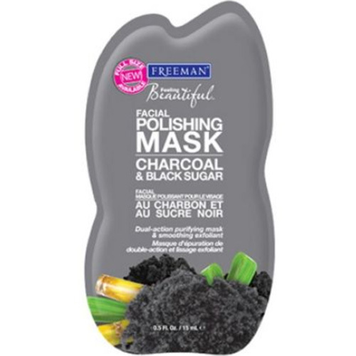 Freeman Peelingová maska s uhlím a cukrem (Facial Polishing Mask Charcoal & Black Sugar) 15 ml