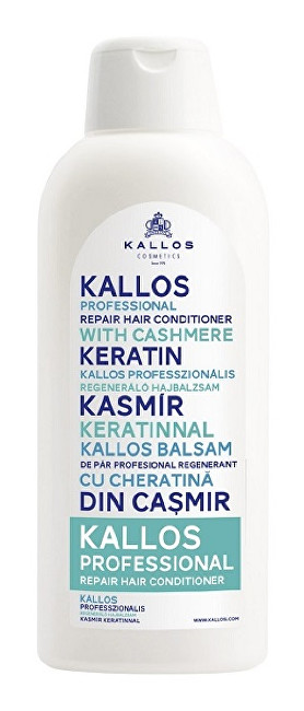 Kallos Pro fesionálny obnovujúci kondicionér s keratínom (Professional Repair Hair Conditioner With Cashmere Keratin) 1000 ml