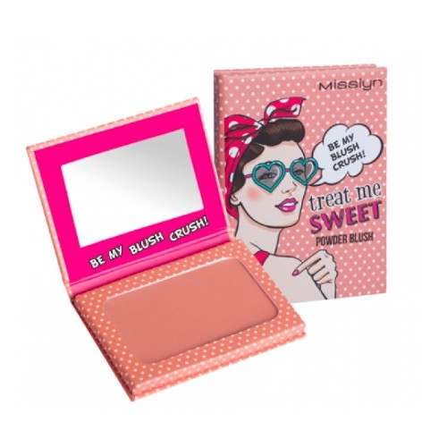 Misslyn Pudrová tvářenka Treat Me Sweet (Powder Blush) 6 g Sytě růžová