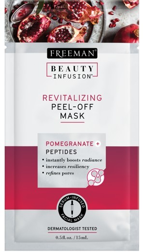 Freeman Revitalizačný zlupovacia maska Granátové jablko a peptidy Beauty Infusion (Revitalizing Peel-Off Mask) 118 ml